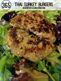 Clean Eating Thai Turkey Burgers|365daysofcleaneating.com