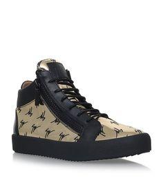 b6b642e53e9 GIUSEPPE ZANOTTI Metallic Logo Mid-Rise Sneakers.  giuseppezanotti  shoes
