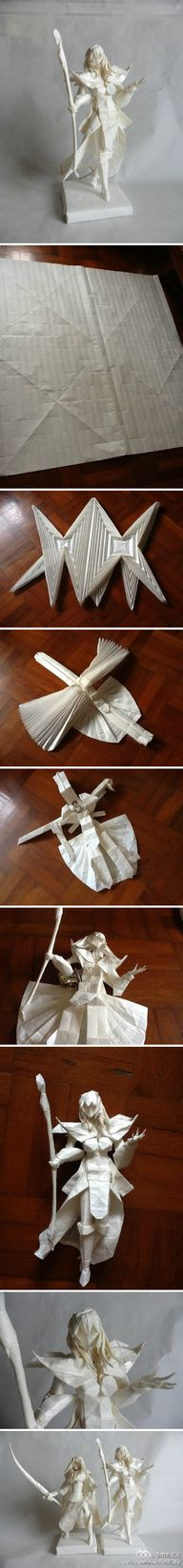 just fold a piece of paper! (Figure via mosaic origami)
