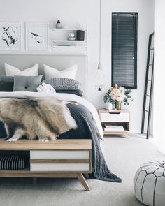 Ugh enough enough enough with all this rain and snow. I think its time to take a day off in this beautiful bedroom. - Architecture and Home Decor - Bedroom - Bathroom - Kitchen And Living Room Interior Design Decorating Ideas - Bedroom Inspo, Home Bedroom, Bedroom Decor, Bedroom Ideas, Bedroom Designs, Gray Bedroom, Budget Bedroom, Bedroom Furniture, Bedroom Interiors