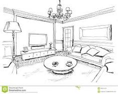 Image result for room sketch corner view