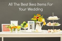 All The Best Ikea Items For Your Wedding | rusticweddingchic.com