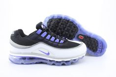 the best attitude 43c7c c6c60 Nike Air Max 24-7 Neno Mens Black Light Purple White