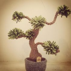 Lovely bonsai tree by erinshaine, a first time poster on Crochetville