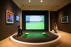 golf simulator (hubby says one is going in the new house... He *needs* it)