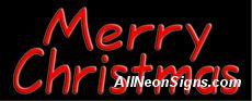"""Merry Christmas Neon Sign-10261  13"""" Wide x 32"""" Tall x 3"""" Deep  110 volt U.L. 2161 transformers  Cool, Quiet, Energy Efficient  Hardware & chain are included  6' Power cord  For indoor use only  1 Year Warranty/electrical components  1 Year Warranty/standard transformers."""