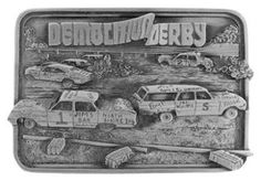Demolition Derby Buckle from All American Buckles, a Division of Bergamot - The Fine Art Foundry