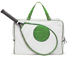 Tennis bag by Kate Spade. This is from a few years ago. If anyone can find this for me, let me know!
