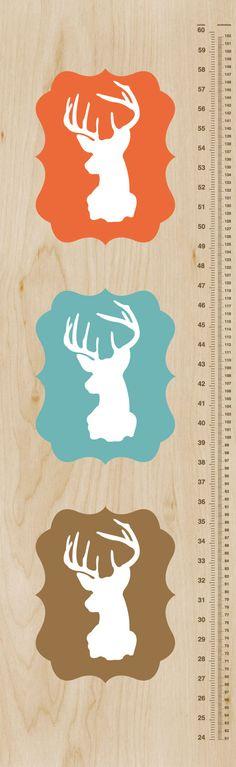 Oh Deer Growth Chart  Modern Nursery Wall Art by giraffesnstuff, $35.00