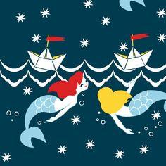 Mermaid fabric on Spoonflower