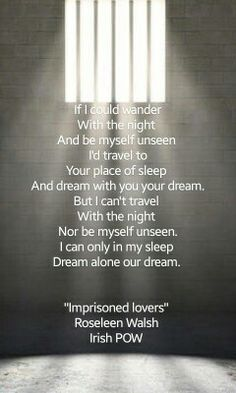 """Imprisoned lovers"" Roseleen Walsh Irish POW Armagh jail"