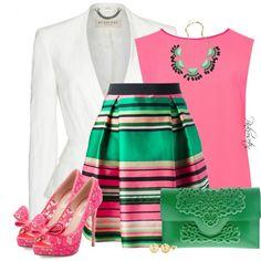 """Pink, Green & White"""