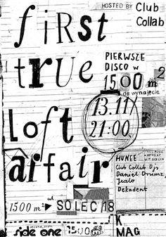 loft affair typo poster by aleksandra niepsuj