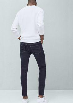 Denim collection Cotton fabric Dark wash Five pockets Zip and one button fastening 16 cm hem Mango Sale, Philippines, Cotton Fabric, Black Jeans, Skinny, Denim, Dark, Pants, Clothes