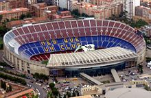 Camp Nou is a football stadium in Barcelona. It has been the home of FC Barcelona since its completion in Camp Nou Barcelona, Fc Barcelona, Barcelona Catalonia, Soccer Stadium, Football Stadiums, Basketball Players, Plan Urbanistico, Ruud Van Nistelrooy, Liga Soccer
