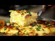 Potatoes au gratin with mozzarella and bacon- ASMR Potatoes Au Gratin, Mashed Potatoes, My Recipes, Cooking Recipes, Mozzarella, Bacon, Yummy Food, Ethnic Recipes, Meals