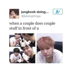 The face is like that because Jimin is not with him<<<<< yaaassss<<<<<< I just love Sugas face