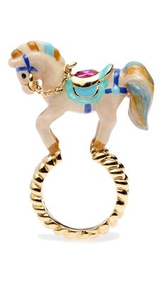 Horse Carousel Handpainted Ring -Disaya Summer 2012 collection