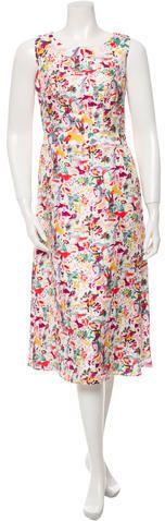 Carolina Herrera Satin Printed Dress