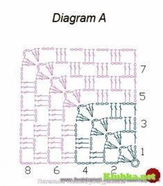 Бабушкин квадрат от угла-3 ВАРИАНТА!