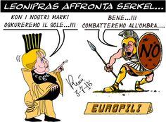 Graffiti satirici...: Il DRAKMMA greco....
