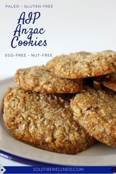 AIP Anzac Biscuits (Cookies) - Aussie's most favorite 'biscuit' - but made without grains, nuts or refined sugar!