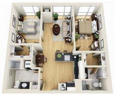 Resultado de imagen de planos de duplex de 75 m2