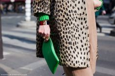 Cute green and leopard combo.