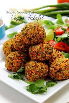 Paleo Falafel! #grainfree #beanfree #veggie Loaded with nutty seedy goodness!