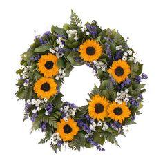 "20"" Sunflower Escape Wreath I"