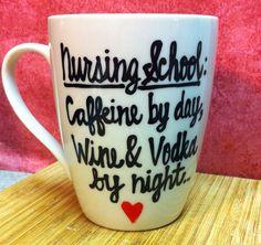 Nursing school coffee mug. valentines day maid of by PickMeCups, $20.00