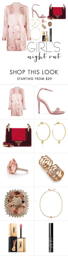 """""""Untitled #174"""" by xoutfiter ❤ liked on Polyvore featuring Fleur du Mal, Gucci, Prada, Yvonne Léon, Repossi, Selim Mouzannar, Yves Saint Laurent and NARS Cosmetics"""