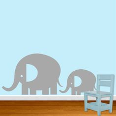 Elephants Vinyl Wall Decal Sticker - Set of 2. $20.00, via Etsy.