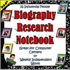Biography Research Project Notebook by Eric's Elementary Resource Store  | Teachers Pay Teachers