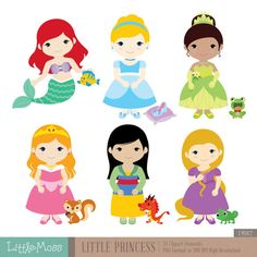 Little Princess Digital Clipart 1