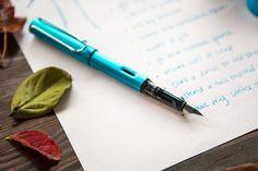 Fall bucket list drawn with a Lamy Pacific Al-Star fountain pen and Lamy Pacific fountain pen ink.