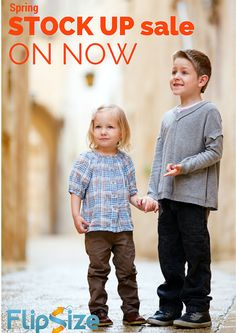 Save $25 on your order of $75 or more at www.flipsize.ca.Use coupon code: 'stockup' to save big on gently used kid's clothes now!