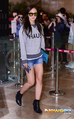 SNSD Yuri airport fashion may 2014