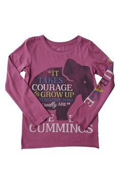 Peek 'Courage' Long Sleeve Graphic Tee (Toddler Girls, Little Girls & Big Girls) available at #Nordstrom