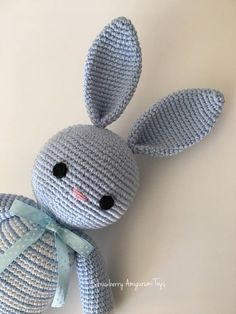 This is an orijinal pattern written by me. Its in English and using American terms. The finished product is about 31 cm (12 inches) tall when used 100 g / 225 m yarns and 2,30 mm crochet hook. This bunny pattern is especially for making sleeping mates for babies.