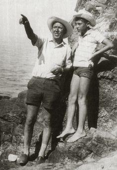 """Юрий Никулин с сыном Максимом на съемках фильма """"Бриллиантовая рука"""", 1968 год."""