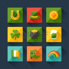 To help you find or make your own designs, here is an assortment of Saint Patrick's Day vectors and designs.