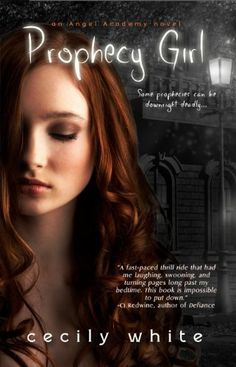 A book by a wonderful personal friend of mine, Cecily White. I just downloaded it and can't wait to read. She is an exceptionally wonderful writer, people. Don't miss out on this opportunity to enjoy her work. Prophecy Girl (Angel Academy) by Cecily White, http://www.amazon.com/dp/B00B6U13OK/ref=cm_sw_r_pi_dp_hCixrb17KBMF6