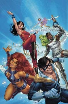 Convergence: New Teen Titans #1 by Nicola Scott.