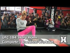UFC 184: Holly Holm's Open Workout Before Facing Raquel Pennington (Complete/Unedited) SHADOW (8:19) | MMA WMMA kick boxing