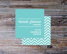 Teal Business Card 3 x 3 Square