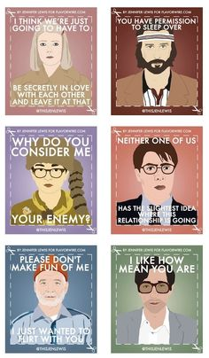 wes anderson film printable valentines by jennifer lewis for flavorwire