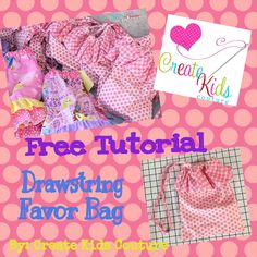Need a cute bag for that gift? Create Kids Couture has an awesome free tutorial on how to make one in no time! Perfect for any theme- birthdays, Christmas, you name it!