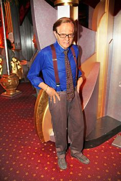 Larry King at Madame Tussaud's Wax Museum in Las Vegas Nevada.