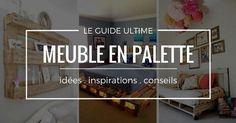 Meuble En Palette : LE Guide Ultime (mis à jour - Es Tutorial and Ideas Room Interior, Interior Design Living Room, Sustainable Design, Home Staging, Pallet Furniture, Pallet Projects, Diy Design, Diy And Crafts, Construction